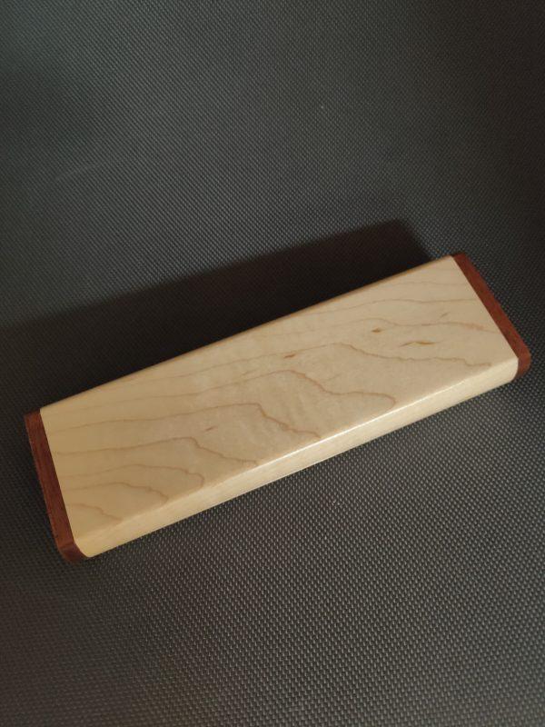 Plumier en bois de frêne-sipo 2 stylos V3 3